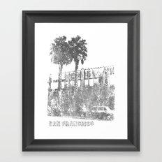 Marina Palm Trees Framed Art Print