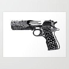 Flower Gun  Art Print