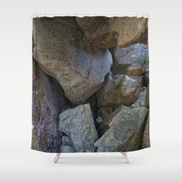 Natural Beach Rock Cave Texture Cornwall Shower Curtain