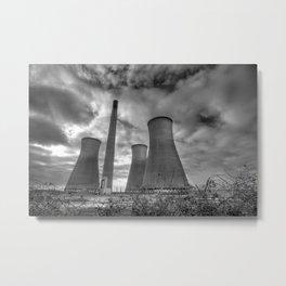 Richborough Power Station, England Metal Print
