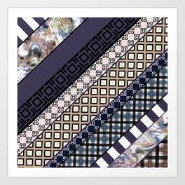 Folk craft , patchwork Art Print