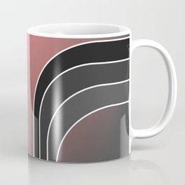 Pink w/Grey Bars Coffee Mug