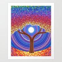 secret life Art Prints featuring Secret Life of Trees by Elspeth McLean