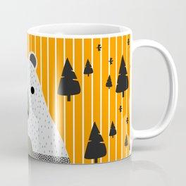 Cute bear, stripes and a fir forest Coffee Mug
