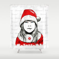 Snow-maiden Shower Curtain