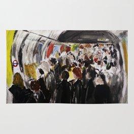 London Underground Subway Going To Work Part 2 Rug