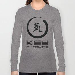 Key Clothing Canada Kanji Brushstroke Black Logo Long Sleeve T-shirt