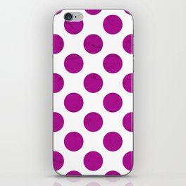Fuchsia Polka Dot iPhone Skin