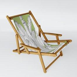 Banana Leaves Illustration - Green Sling Chair