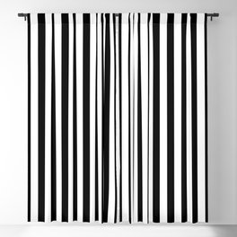 Abstract Black and White Vertical Stripe Lines 10 Blackout Curtain