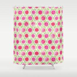 Watermelon Radish pattern Shower Curtain