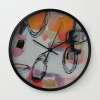 macaroons Wall Clocks featuring Macaroons by Patricia Schwimmer