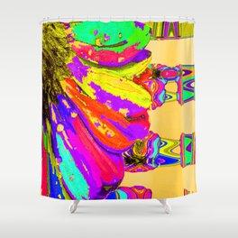 Rainbow Abstract Daisy Shower Curtain