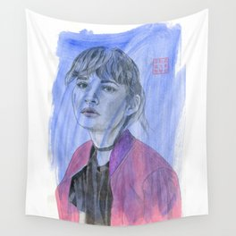 The Pink Jacket Wall Tapestry