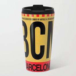 BCN Barcelona Luggage Tag 1 Travel Mug