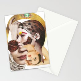 Papercollage Heads Up by Lenka Laskoradova Stationery Cards