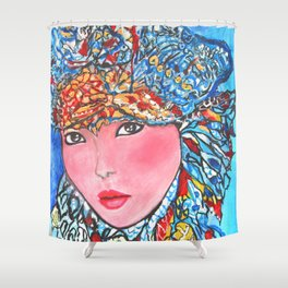 LUNA #society6 #decor #buyart My artwork is featured in MagCloud, Pink Panther Magazine, issue 25 Shower Curtain