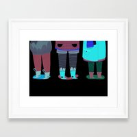 shoes Framed Art Prints featuring Shoes by genie espinosa