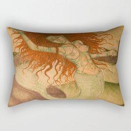 Green Moss Kingdom Rectangular Pillow