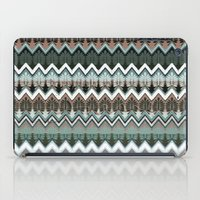 ikat iPad Cases featuring winter ikat  by Ariadne