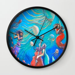 Mermaids Serenade Wall Clock