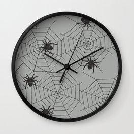 Hallween Spider web Wall Clock