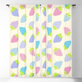 Pastel Strawberries Pattern Blackout Curtain