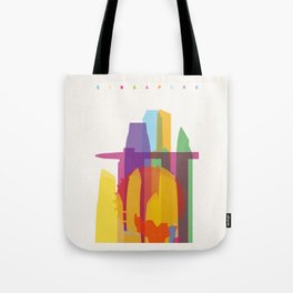 Shapes of Singapore. Tote Bag