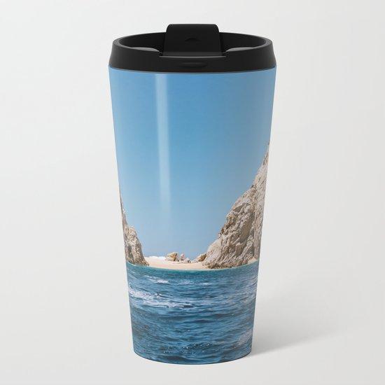 Lovers Beach Metal Travel Mug