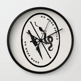 no more devils Wall Clock
