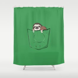 Sloth in a pocket Shower Curtain