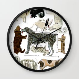 Dogs' Specificity Wall Clock