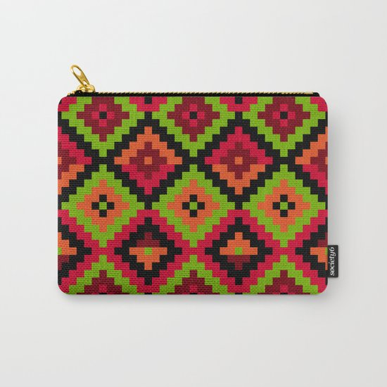 Aztec pattern - green Carry-All Pouch