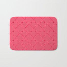 Punch pink squares pattern. Bath Mat