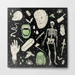 Whole Lotta Horror: BLK ed. Metal Print