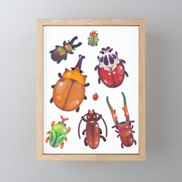 Beetle - pastel Framed Mini Art Print