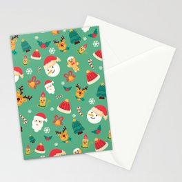 Christmas Pattern- santa claus with cute animals Stationery Cards