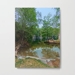Romantic moments at the lake   waterscape photography Metal Print