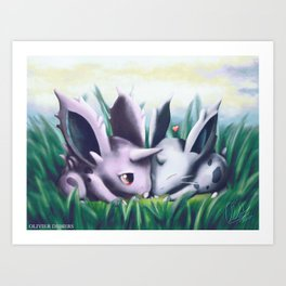 Viridian Snuggle Art Print