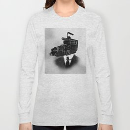 Faces of the Past: Camcorder Long Sleeve T-shirt