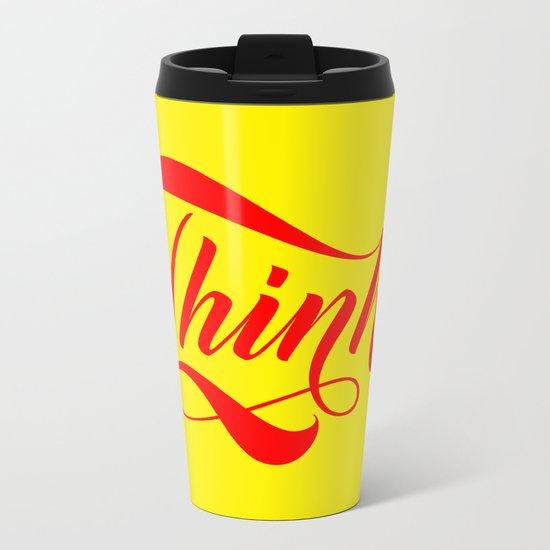 Think! Metal Travel Mug