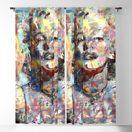 Marilyn Surreal ColLage Portrait Blackout Curtain