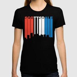Red White And Blue Scottsdale Arizona Skyline T-shirt