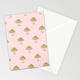 Capped Fellow pattern in peach Stationery Cards