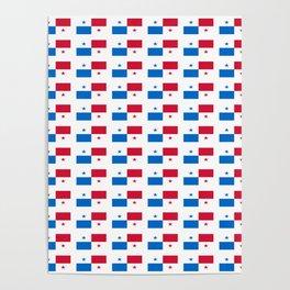 flag of panama 2 -Panama,Panamanian,canal,spanish,San Miguelito,Tocumen,latine,central america,panam Poster