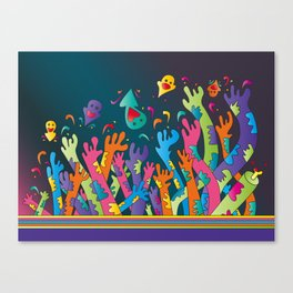 Arms up in the air. Canvas Print