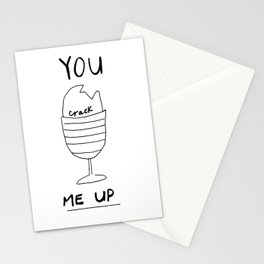 YOU CRACK ME UP Stationery Cards