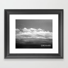 Circulate - Clouds Framed Art Print