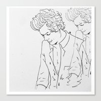 harry Canvas Prints featuring Harry by Louana AB