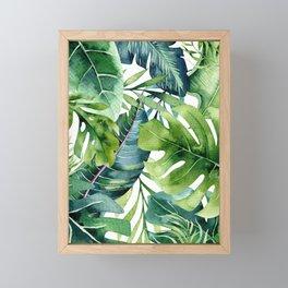 Tropical Jungle Leaves Framed Mini Art Print
